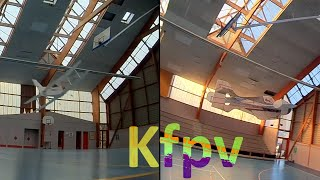 Indoor rc chased 5 inch fpv kwad . old biplane DIY plane . progress epp plane collide . rc car . fpv