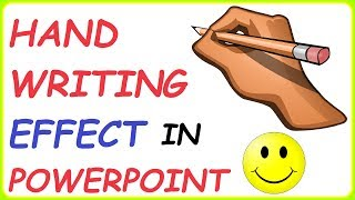 Handwriting Text Effect In PowerPoint 2010 ( 2 Ways To Create A Handwriting Effect In PowerPoint )