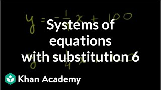 Solving systems by substitution 1