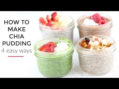 Video Chia Pudding Recipe 4 Ways | Healthy Breakfast Idea