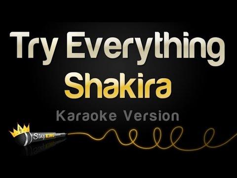 Shakira - Try Everything (Karaoke Version)