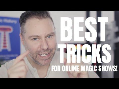 BEST MAGIC TRICKS FOR ONLINE MAGIC SHOWS! + FREE MAGIC