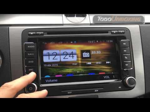 Funcionamiento radio cd 2DIN S160 android volkswagen VW. Parte 3