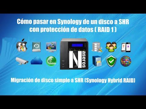 Migración de un disco a SHR (RAID1) en Synology