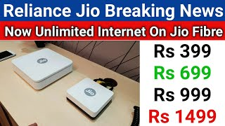 Jio Fibre 4 New Plans Launch | Now No Data Limit | Unlimited Data On Jio Fibre - Download this Video in MP3, M4A, WEBM, MP4, 3GP