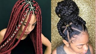 #Howto Style Triangle Box #Braid || Stylish #Braids for 2020/2021 || #Christmas #Hairstyles