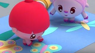 Малышарики - Раскраска для детей - Летчик