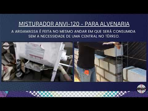 Misturador de Argamassa ANVI 120