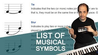 The List of Musical Symbols and Terms
