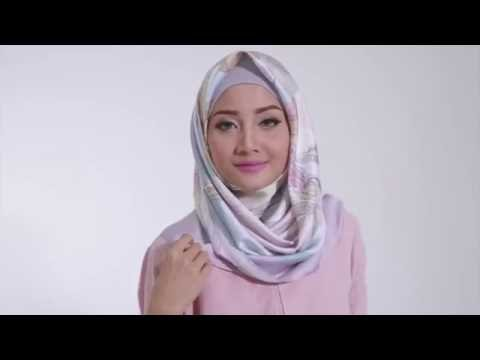 Video Tutorial Hijab 2016  'Tutorial Hijab Segi Empat Satin Motif by Linda Kayhz'