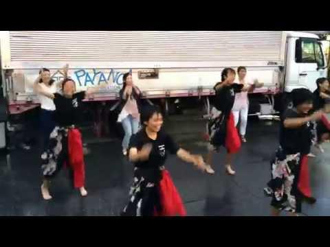 武里中学校陸上部女子 よさこいソーラン②(20140726(土)-27(日) 第42回 武里駅西口夏まつり)