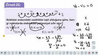 Eğitim Vadisi AYT Fizik 12.Föy Elektrik ve Manyetizma 4 (Elektriksel Potansiyel) Konu Anlatım Videoları