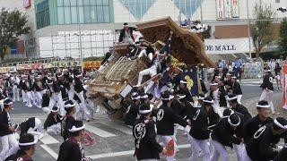 【平成最後】平成30年 9月15日 岸和田だんじり祭 宵宮 午前曳行 カンカン場 全やりまわし その1