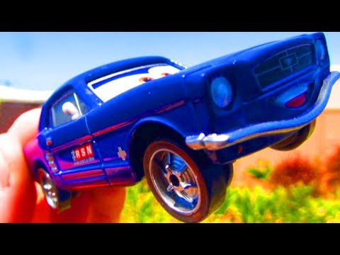 Disney CARS 2 Brent Mustangburger Diecast Mattel Toys Pixar Cars Collectibles '65 Mustang Toy Review