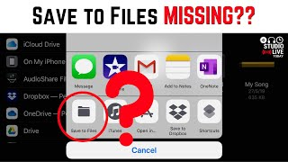 "Where is ""Save to Files""? (iPhone/iPad)"