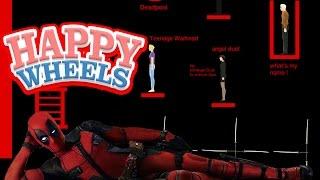 Happy Wheels: Deadpool Sword Throw - Part 400!!!