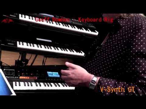 Geoff Downes Keyboard Rig 2014