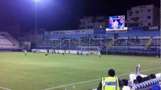 AEL 3-5 Omonoia. Michalis Constantinou Penalty.