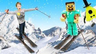 Игры гонки в Майнкрафт - Лыжи для Стива и Билл Шифра!