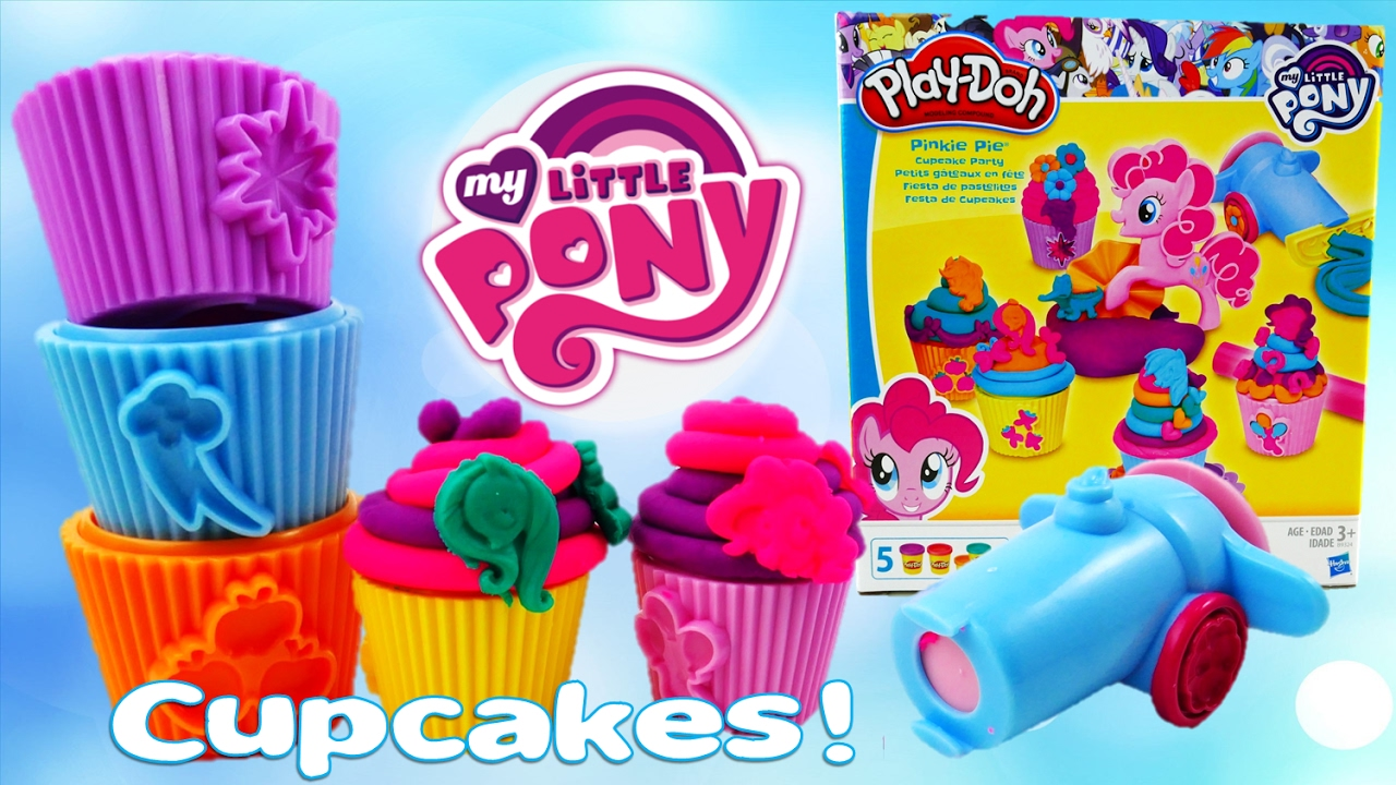 My Little Pony Play-Doh Set Pinkie Pie Cupcake Party Unbox and Review | Evies Toy House