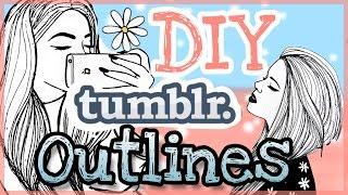 DIY TUMBLR OUTLINES | EASY || FOXY DRAWS