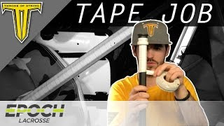 TUTORIAL: How to Tape a Lacrosse Shaft | Epoch Gen5 Dragonfly C30