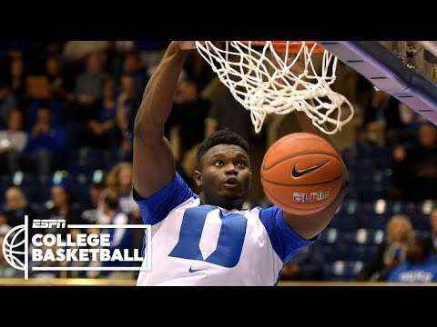 Zion Williamson puts on a dunk show in Duke win | CBB Highlights