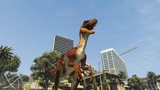 GTA 5 Raptor Mod - Khủng long bạo chúa xuất hiện trong GTA 5