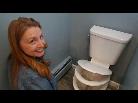 DIY Woman Installs VANQUISH Toilet from Mansfield Plumbing