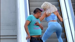 Working Out On The Escalator Prank