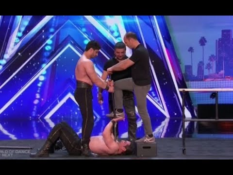 THE MOST DANGEROUS AUDITION EVER!!! (You WILL Look Away)   Auditions 2   America's Got Talent 2017 (видео)