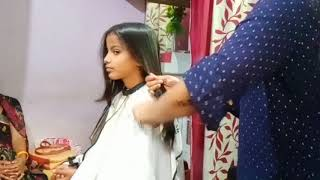 Long To Short Hair Cut In School Going  Girls /aisa Haircut Jo Har Type Ke Dress Ke Upar Suit Karen