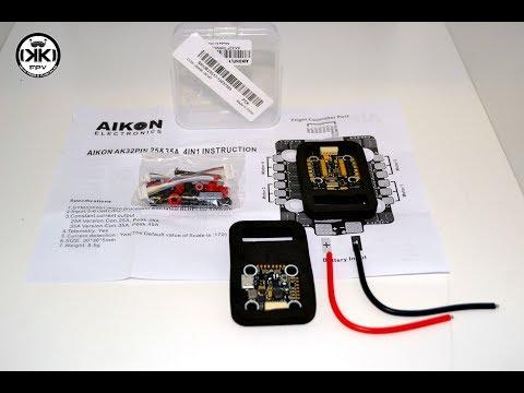 AIKON AK32 Flytower MINI STM32F405 35A Blheli_32 2-6S Brushless ESC Combo 20x20mm