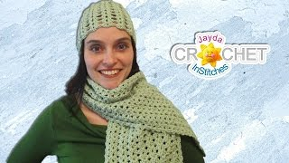 Ladies Lacy Scarf Crochet Pattern & Tutorial - Split Shell Stitch
