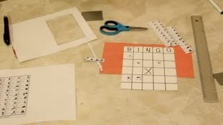 How to Make Picture Bingo Cards With Egyptian Numerals : Craft Projects
