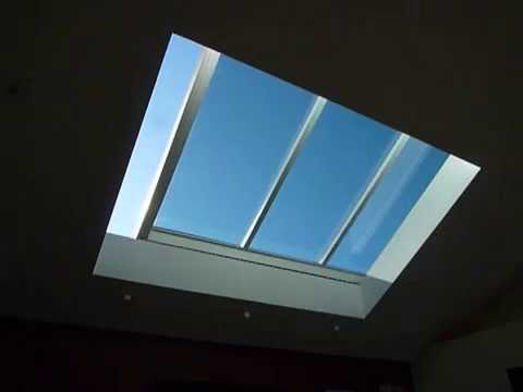 8-foot by 11-foot motorized retractable skylight