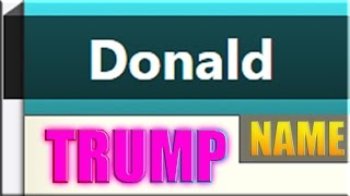 """Donald Trump"" 