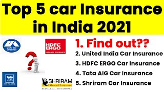 Top 5 Best Car Insurances in India 2020 |  Best Online Motor Insurance Companies @Policy Planner