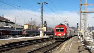 preview picture of video 'Eurocity 151 Emona Wien -- Ljubljana hauled by ÖBB1116 at  Graz Hbf'