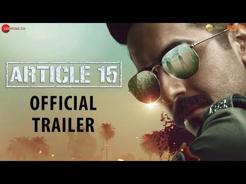 Actor Ayushmann Khurrana New Movie Article 15 Trailer