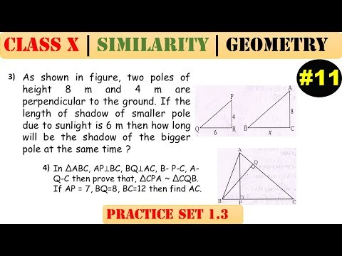 Similarity [Part 11] | Class 10 | Practice set 1.3 (MATHS 2) | Mah. (SSC) Board | Q3 and Q4