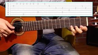 The GODFATHER Fingerstyle Nasıl çalınır? How to play Guitar tutorial