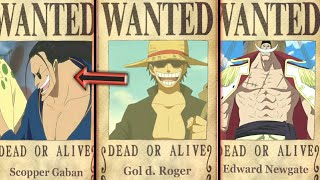 TOP 8 Highest Old Era Pirates Bounties - One Piece Chapter 904+