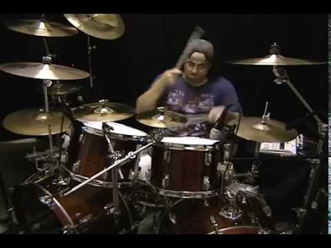 """Mark G. recording drum tracks for the Mark Slaughter composition, """"Deep In Her Heart"""" from his solo CD, """"Reflections In a Rear View Mirror."""""""
