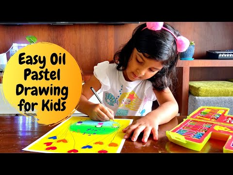 Easy Oil Pastel Drawing for Kids | Oil Pastel Art for Kids | International Day of the Girl Child