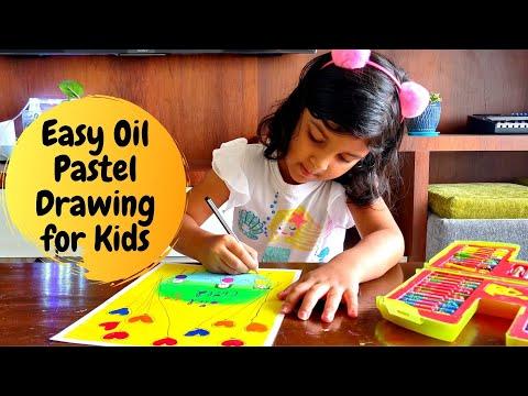 Easy Oil Pastel Drawing for Kids | Oil Pastel Art for Kids | International Day of the Girl Child