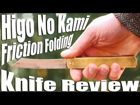 Higo No Kami Knife Review.  A $20 hand made friction folder from Japan