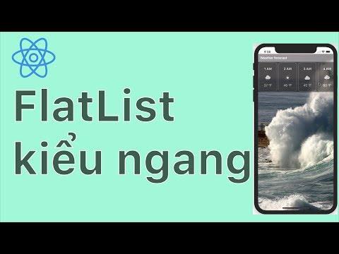 23-FlatList#7.Ví dụ về FlatList kiểu ngang - giống App thời tiết