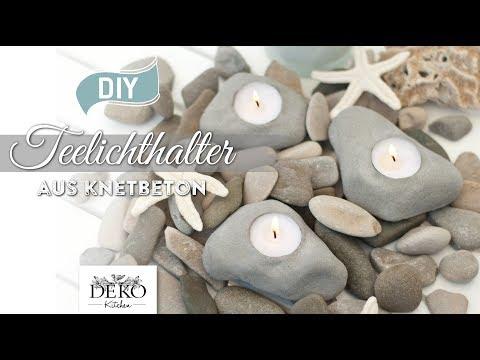 DIY: coole Teelichthalter in Steinoptik aus Knetbeton [How to] Deko Kitchen