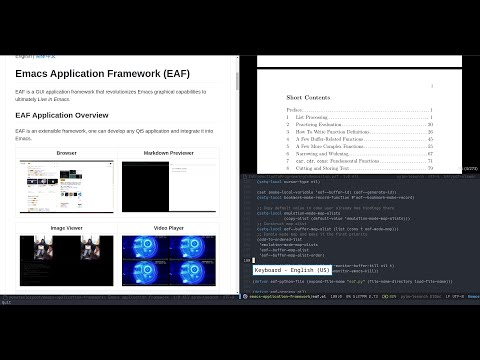 EmacsConf2020 - Extend Emacs to Modern GUI Applications with EAF